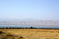 Kairakum water reservoir is one of the biggest ones in Tajikistan and is located close to the Kyrgyz border