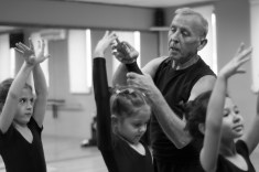 Anatoliy gives private dance classes to children that cover different styles, Lotus Studio, Ashgabat, March 20, 2016
