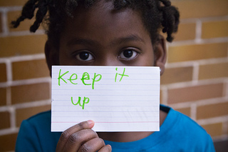 Keep It Up Sign Card Motivation 2012 Girls on the Run Grand Rapids Montessori February 22, 2012 8