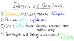 Marketing research interviews and focus groups