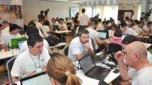 Los equipos en acción. Foto gentileza www.eleco.com.ar