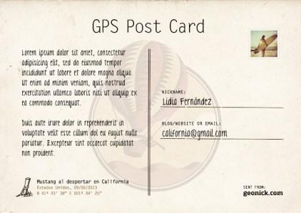 Geonick Postcard Revers