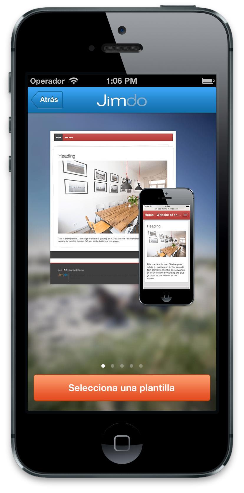 Jimdo App iOS2