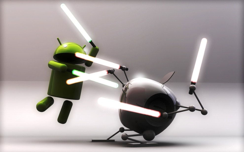 Cool-Android-vs-Apple-Lightsaber-Wallpaper