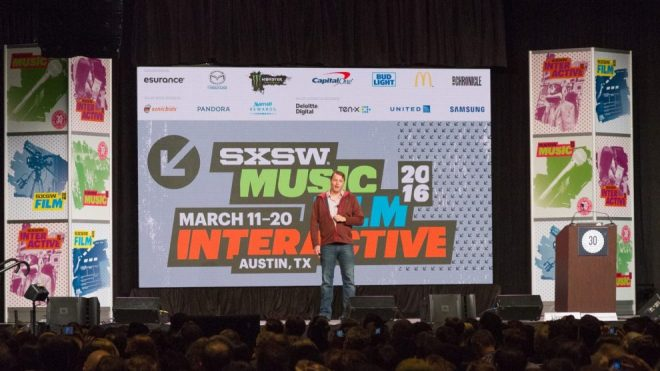 Conferencia 'Google Self-Driving Car Project' en SXSW 2016. Foto: Jim Antich