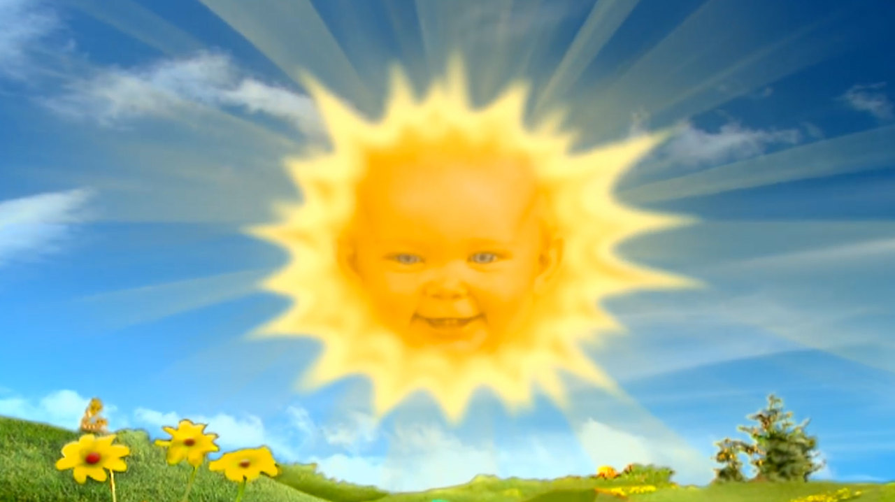 Look at that sun baby!