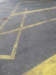 Cracking in Concrete Floor-before