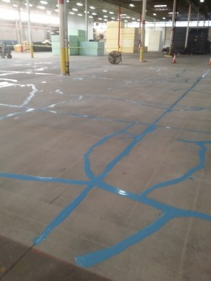 Cracking in Concrete Floor-Repaired -After