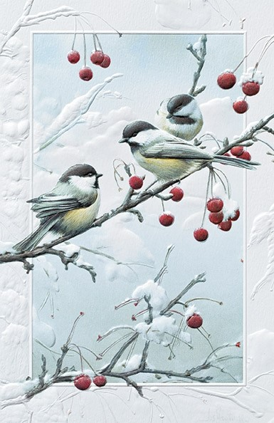 Cheeky Chickadees Chickadee Boxed Christmas Cards