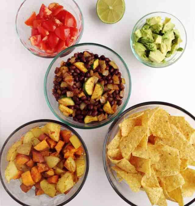 Spicy Roasted Potato Burrito Bowl // pumpkin & peanut butter