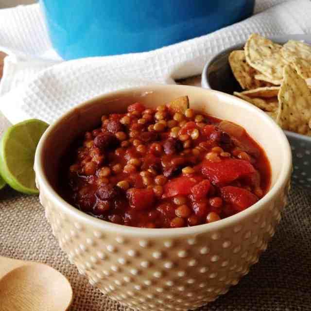 Lentil Black Bean Chili