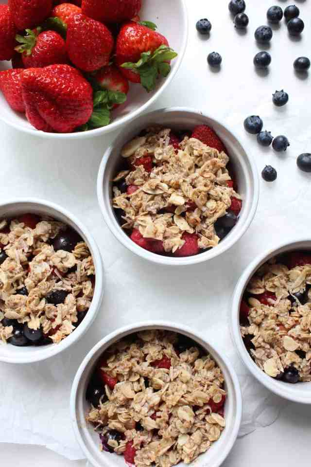 Red, White, & Blue Berry Crisp // pumpkin & peanut butter