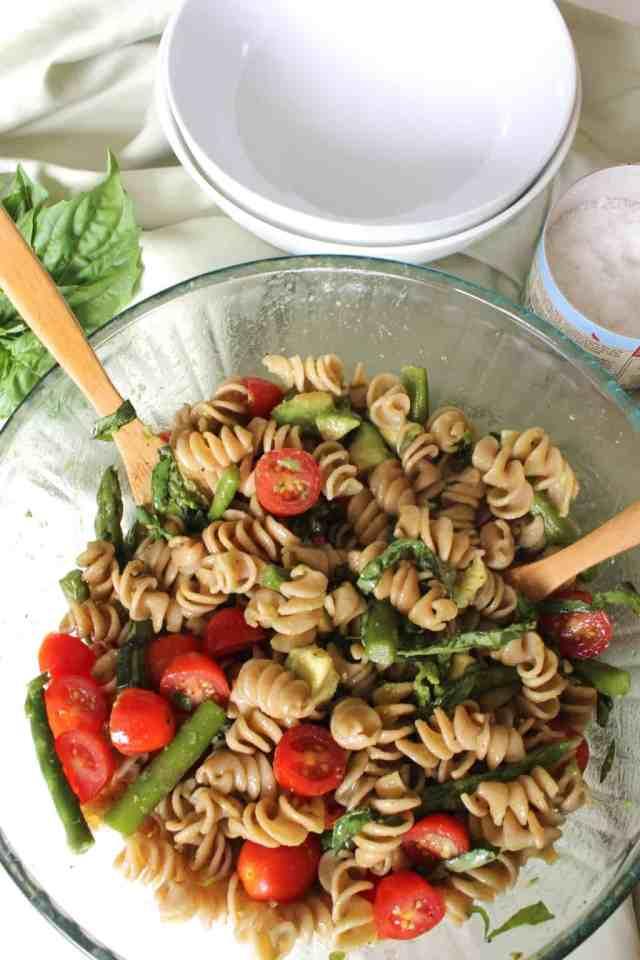 Balsamic Veggie Pasta Salad // pumpkin & peanut butter