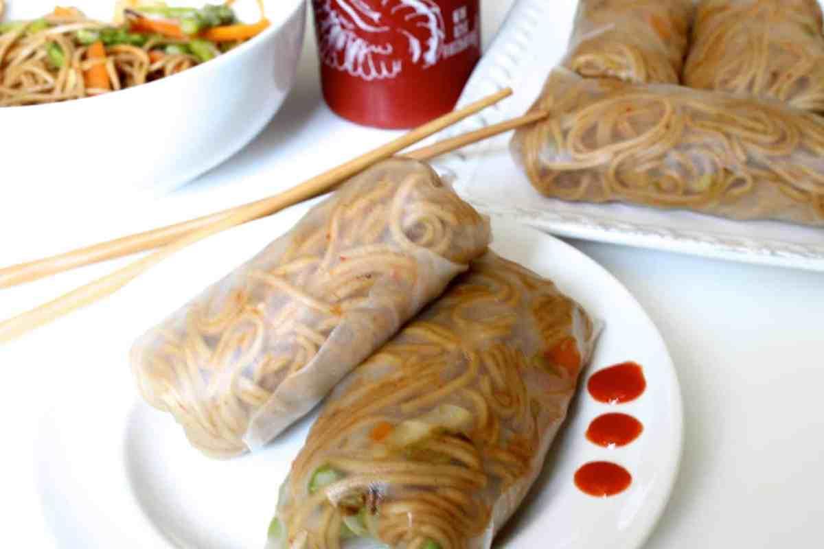 Teriyaki Soba Noodle Spring Rolls