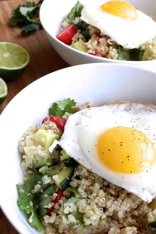 Cilantro-Lime Quinoa Breakfast Bowl // pumpkin & peanut butter
