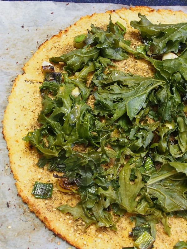 Cauliflower Pizza with Zaatar and Tahini // Healthy Home Cafe