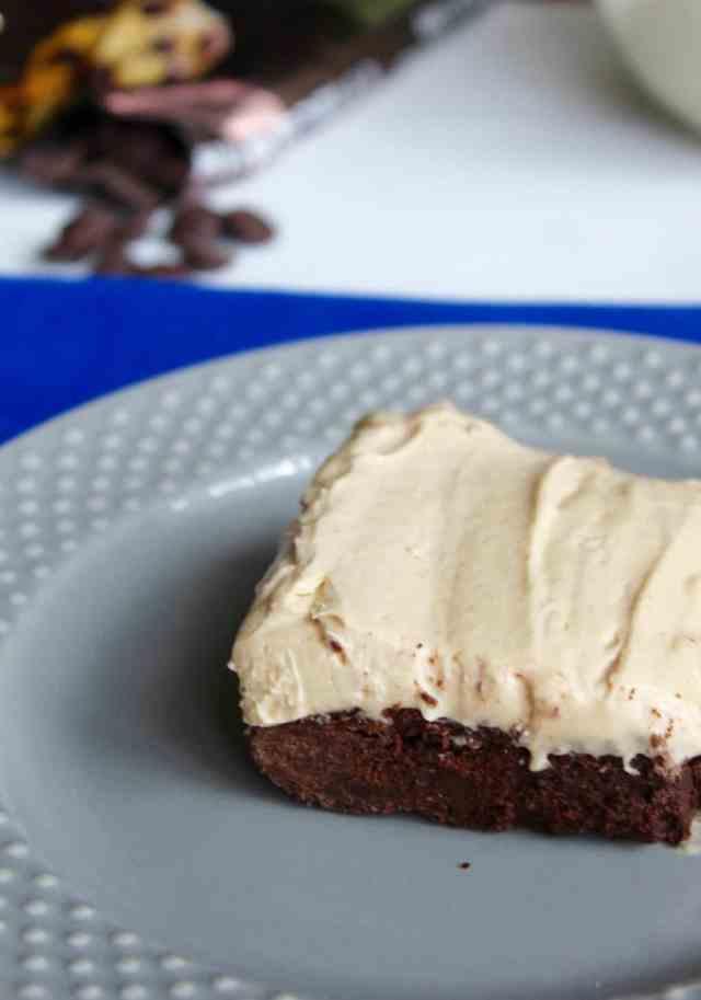 Gluten Free Brownies with Peanut Butter Mousse // pumpkin & peanut butter
