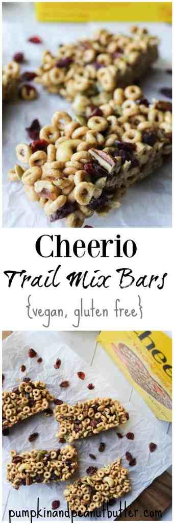 Trail Mix Cheerio Bars {vegan, gluten free} // pumpkinandpeanutbutter.com