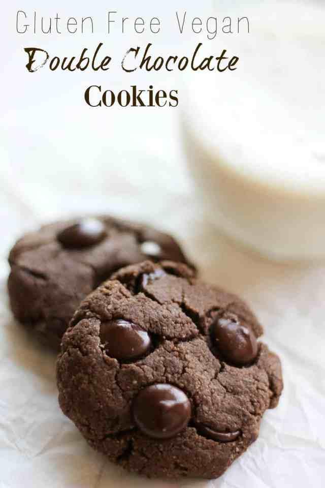 Gluten Free Vegan Double Chocolate Cookies // pumpkinandpeanutbutter.com