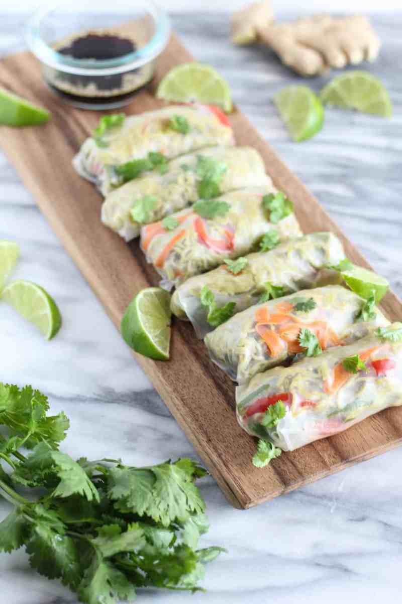 Green Curry Ramen Spring Rolls