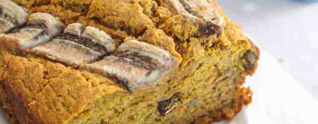 Healthy Pumpkin Banana Bread | pumpkin & peanut butter