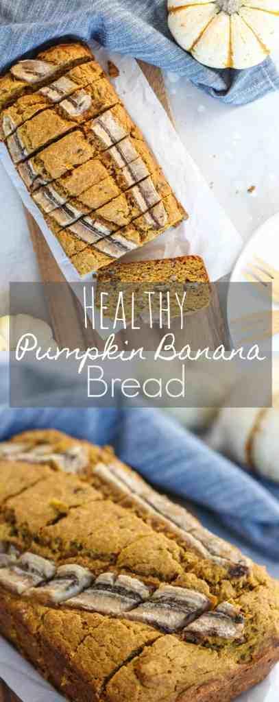 Healthy Pumpkin Banana Bread | pumpkin & peanut butter