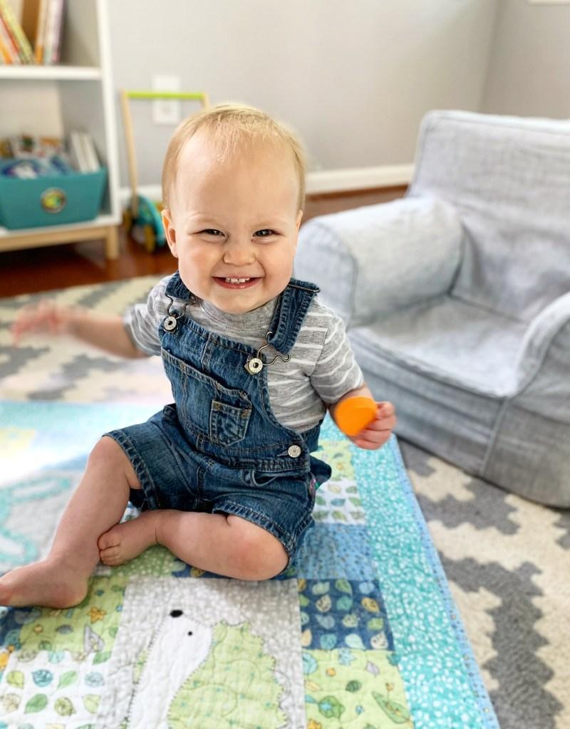Oliver: 1 Year | pumpkin + peanut butter #oneyearold #baby #firstbirthday