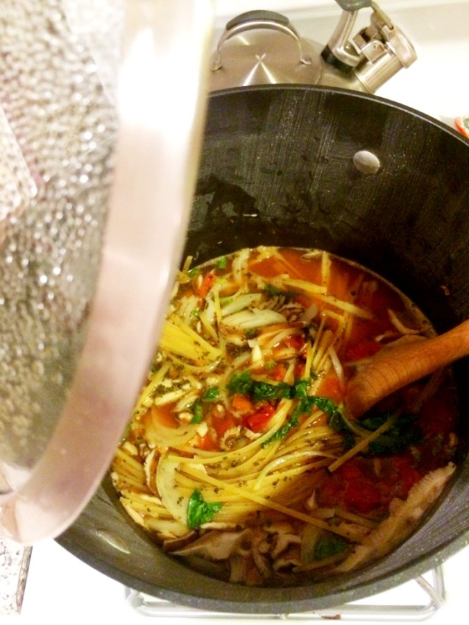 one pot pasta cooking 1