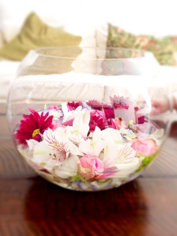 fishbowl flowers