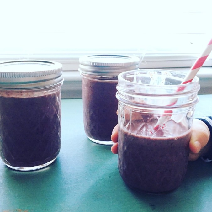 blueberry spinach smoothie 2