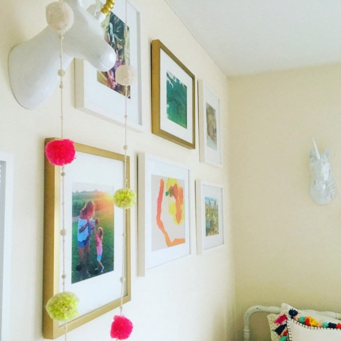 kids room gallery wall 8