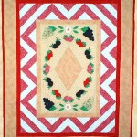 """Spring is in the Air  SKU: PPP006-EIN Fusible Appliqué, Paper Piecing Wall Hanging 34 1/2"""" x 44 1/2"""""""