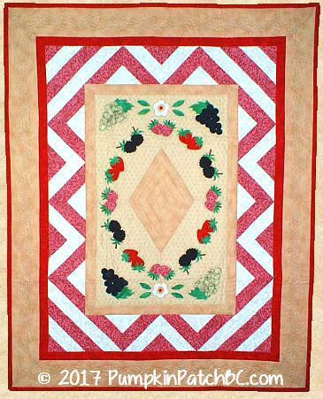 "Spring is in the Air   SKU: PPP006-EIN Fusible Appliqué, Paper Piecing Wall Hanging 34 1/2"" x 44 1/2"""