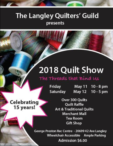 Langley Quilt Show Poster