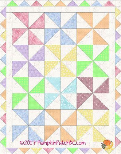 Pinwheel Baby Quilt