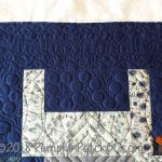 Japanese Improv Quilt Blue Detail 3