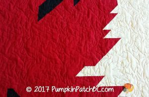Quilts of Valour Maple Leaf Detail