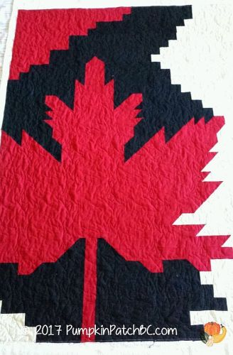 Quilts of Valour Maple Leaf
