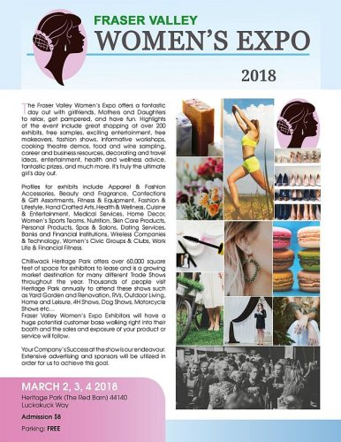 Fraser Valley Women's Expo Poster 2018