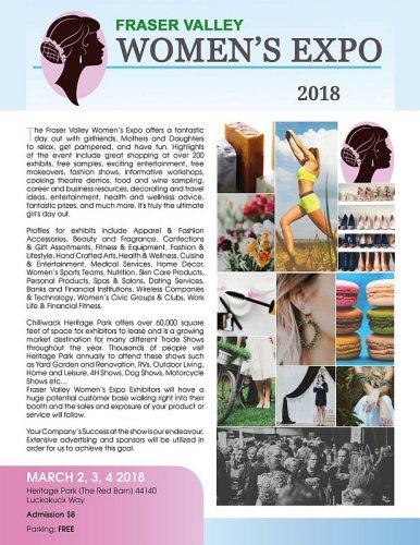 Fraser Valley Women's Expo Poster 2018