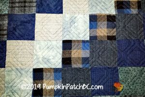 Blue Flannel Squares Detail 1