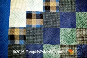 Blue Flannel Squares Detail 2