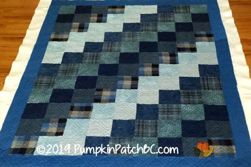 Blue Flannel Squares