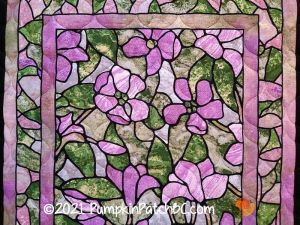 Stained Glass Flowers Detail 1