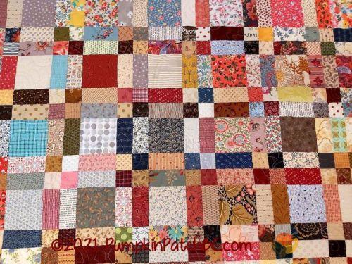 Renate's Scrap Quilt Variation Detail