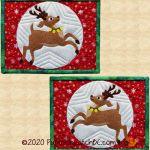 PPP-058 Reindeer Romp Quilted Mug Rugs