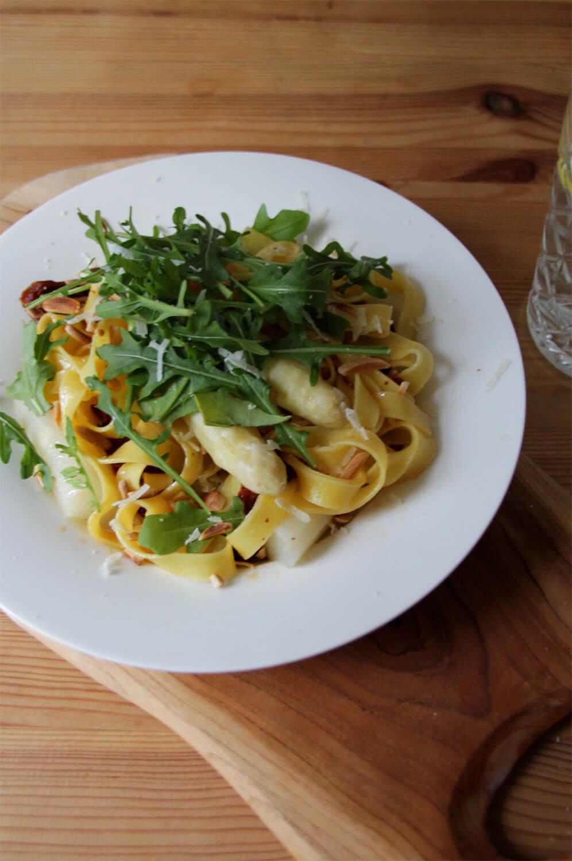 Spargel Pasta mit Zitronenbutter