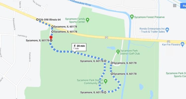 Map for Fun Run