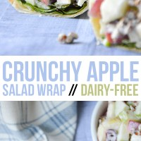 Crunchy Apple Salad Wrap