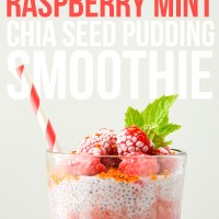 Raspberry Mint Chia Seed Pudding Smoothie + Giveaway!